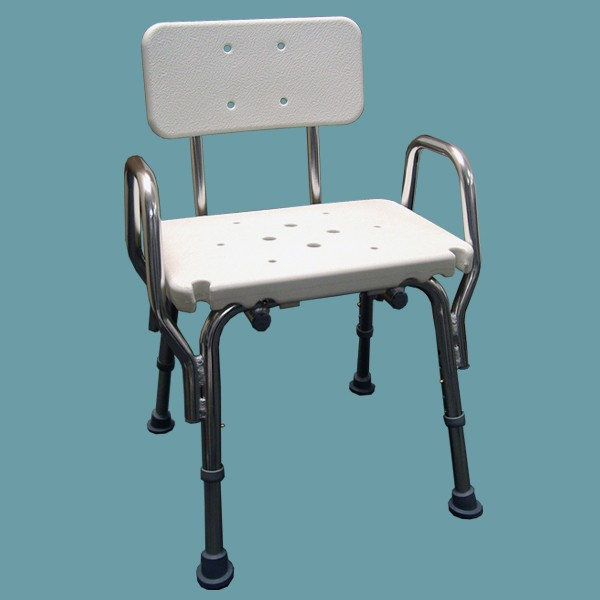 snap n save shower chair with arm rests and back