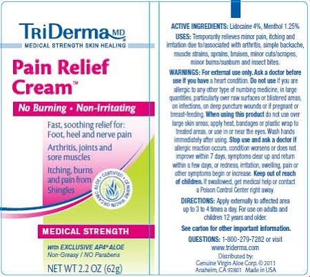 Triderma Pain Relief Cream Medical Strength Pain Relief