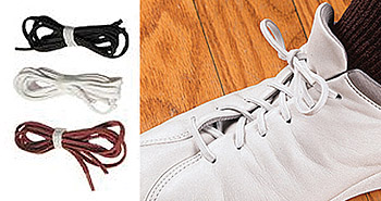 Brown 18 inch Perma-Ty Elastic Shoelaces - Discontinued