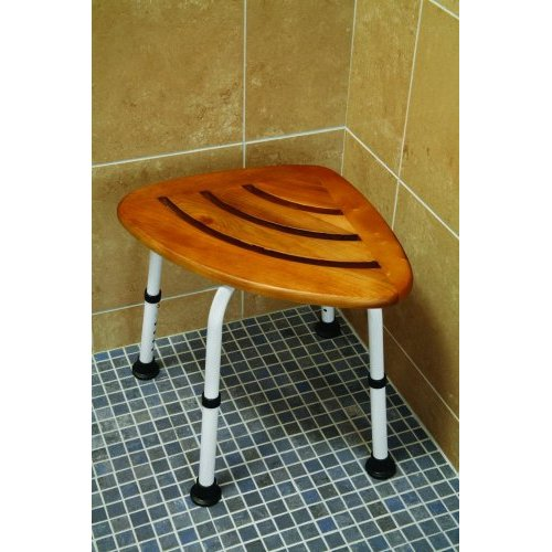 Teak Corner Shower Seat