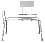 New! Snap-N-Save Long Sliding Transfer Bench with Swivel Seat 77682