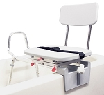 Snap-N-Save Sliding Tub-mount Transfer Bench with Swivel Seat