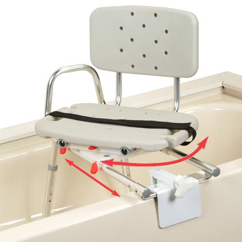 save sliding tub mount transfer bench with swivel seat discontinued