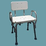 Snap-N-Save Shower Chair with Arm Rests and Back