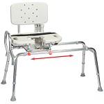 Sliding Transfer Bench with Cut-Out Swivel Seat