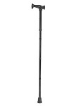 Adjustable Folding Cane with Ergonomic Handle Black