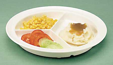 GripWare Partitioned Scoop Dish