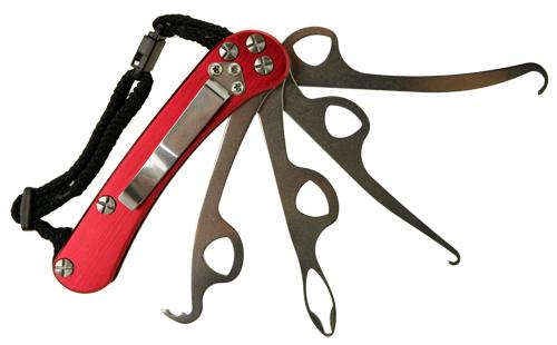 Red Pocket Dresser Button Hook Zipper Pull