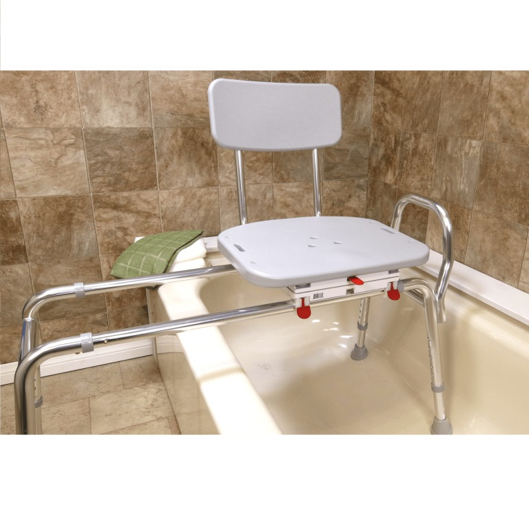 Snap-N-Save Sliding Transfer Bench with Molded Swivel Seat 77662