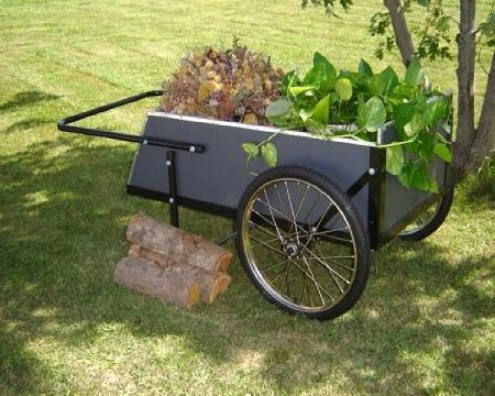 2Wheel Wooden Garden Cart ergonomic durable large gardening cart