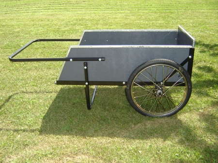 2 Wheel Wooden Garden Cart Ergonomic Durable Large