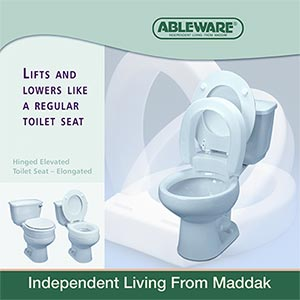 Hinged Elevated Toilet Seat :: toilet seat riser