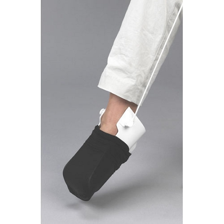 sock aid demonstration rigid sock aid with heel guide wide assistive
