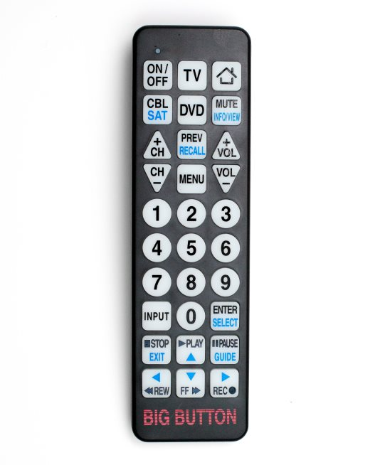 Big Button Universal Remote Control Easy To Hold Easy