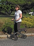 Steerable Leg Support Walker