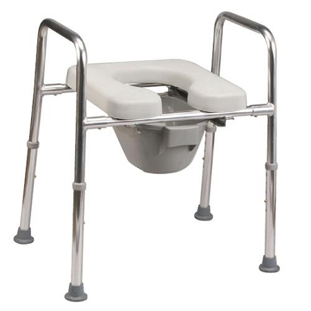 Raised Toilet Frame With Padded Seat Helps Make Toilet