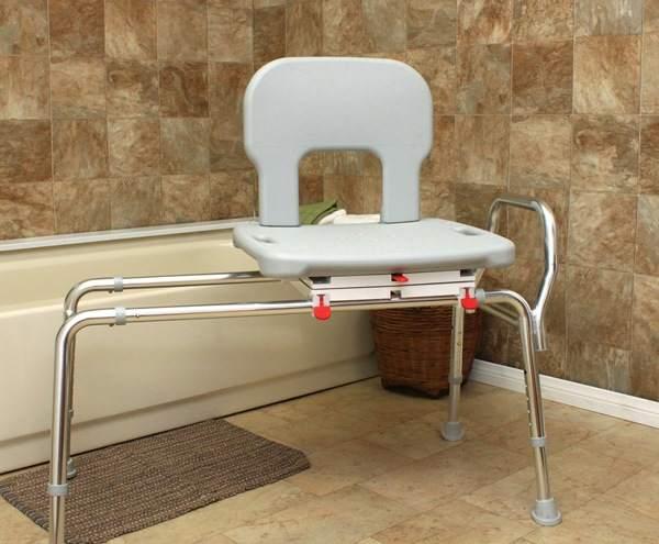 Heavy Duty Swivel Sliding Bath Transfer Bench Extra Wide Seat