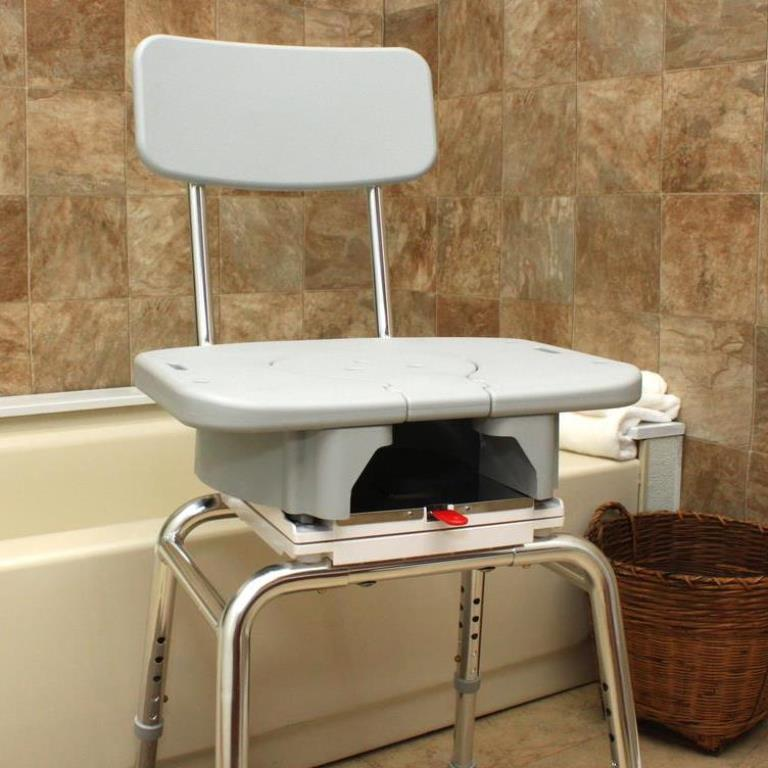 Snap-N-Save Shower Chair with Swivel Cut Out Seat: arthritis shower ...