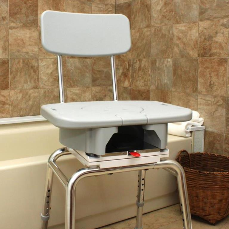 Snap N Save Shower Chair With Swivel Cut Out Seat