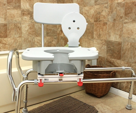 Snap N Save Sliding Transfer Bench With Cut Out Swivel