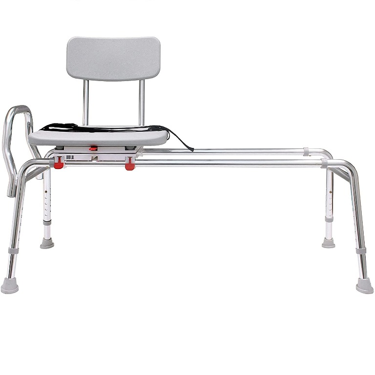 Snap-N-Save Extra Long Sliding Transfer Bench with Swivel ...