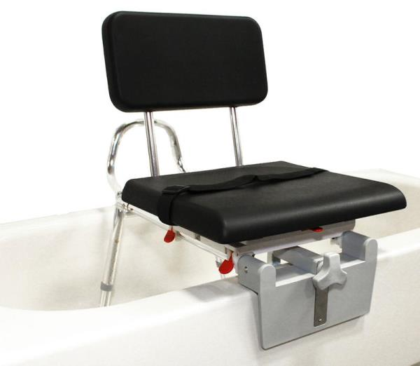Sliding Tub Mount Transfer Bench With Padded Swivel Seat And Back Arthritis Bath