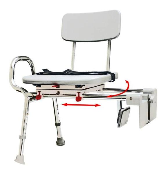 Snap N Save Sliding Tub Mount Transfer Bench With Swivel
