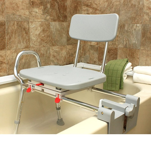 Snap N Save Sliding Tub Mount Transfer Bench With Swivel Seat Tub Bench For