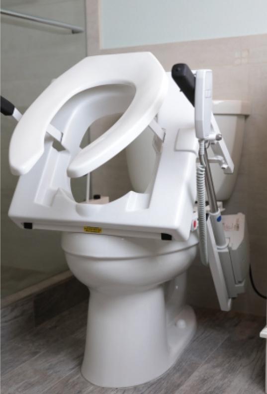 EZ-Access Tilt Toilet Seat Lift : Easy to use toilet seat safety lift