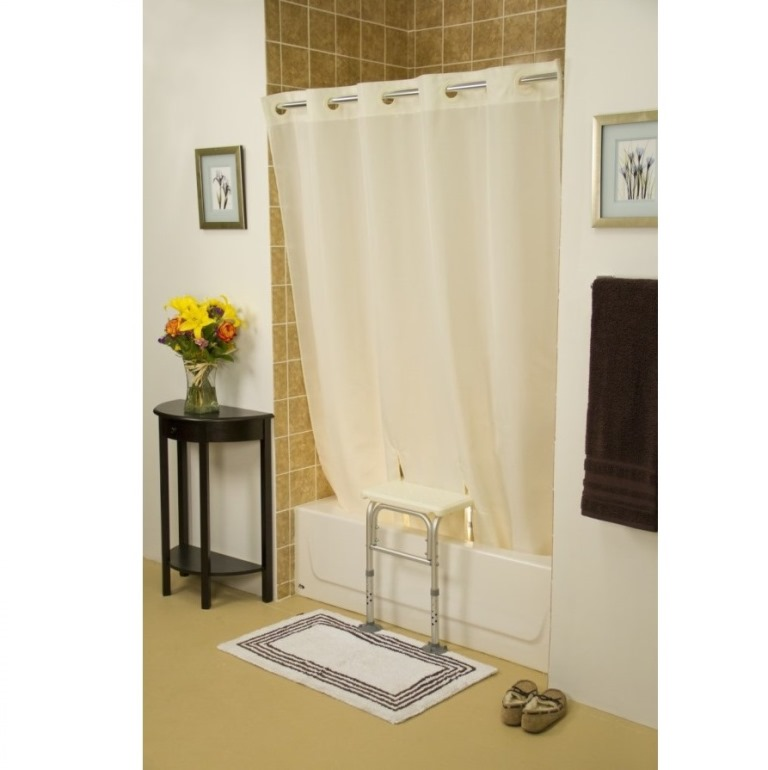 Bench Buddy Adapted Shower Curtain Simplicity Hook Less