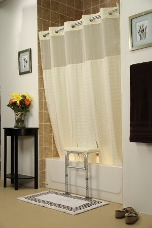 Bench Buddy Adapted Shower Curtain Whitaker Beige