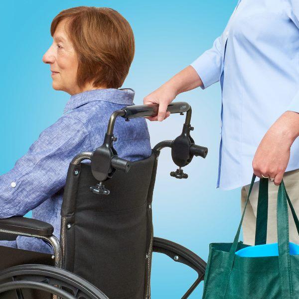 Wheelchair Push Bar Helps Make Pushing Wheelchairs Easier