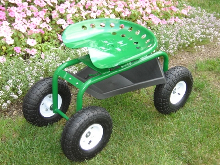 Garden Seat Caddy Rolling Seat Helpful For Gardening