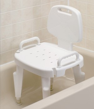 Bath Safe Bath and Shower Seat with Arms and Back : adjustable ...
