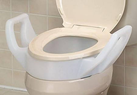 Bath Safe Raised Toilet Seat With Arms Arthritis Toilet