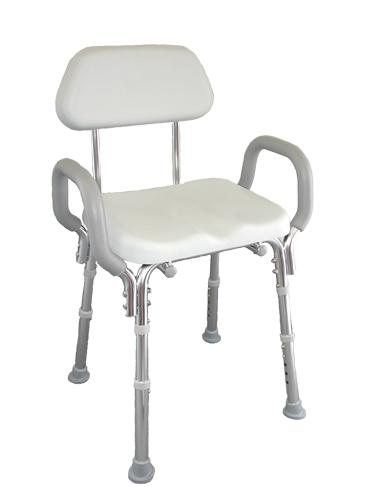 Padded Shower Chair with Armrests and Back - Discontinued