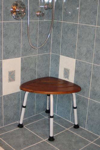 TEAK Corner Shower Seat- Discontinued