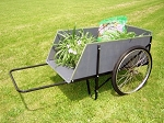 2-Wheel Wooden Garden Cart