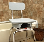 Snap-N-Save Shower Chair with Swivel Cut Out Seat