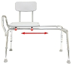 Snap-N-Save Long Sliding Transfer Bench