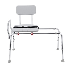 Snap-N-Save Sliding Transfer Bench with Cut-Out Seat