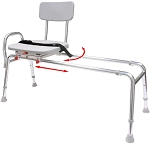 Snap-N-Save Extra Long Sliding Transfer Bench with Swivel Seat