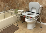 X Long Toilet to Tub Sliding Transfer Bench