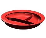 Independence Partition Scoop Plate Red