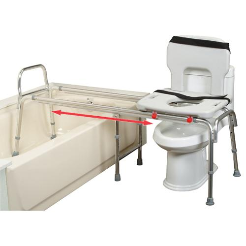 XX Long Toilet to Tub Sliding Transfer Bench : extra long bath ...