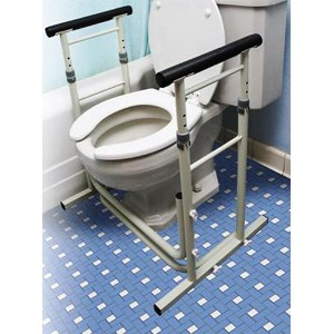 Essential Bath Safety Stand Alone Toilet Rails