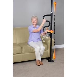 Security Pole with Grab Bar by Stander
