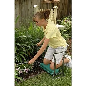 Yard Butler Garden Seat And Kneeler Folding Seat With