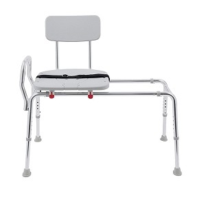 Snap-N-Save Long Sliding Transfer Bench with Cut-Out Seat