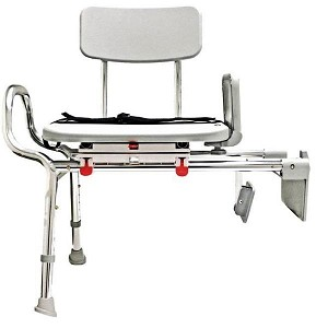 Snap N Save Sliding Tub Mount Transfer Bench With Swivel Seat Tub Bench